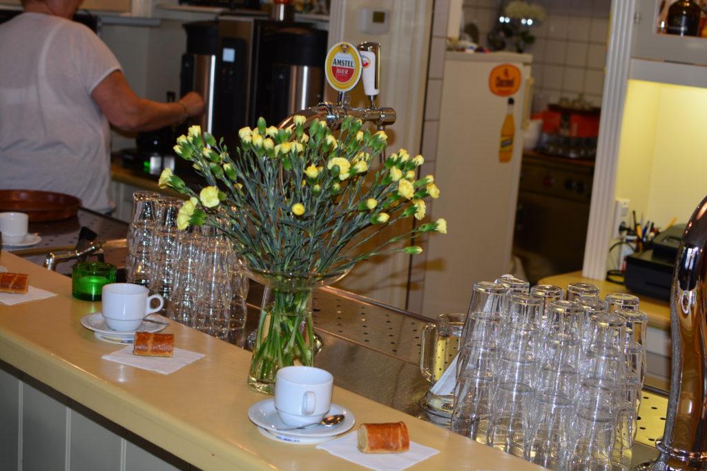 Burghwall met bloemen en banketstaaf