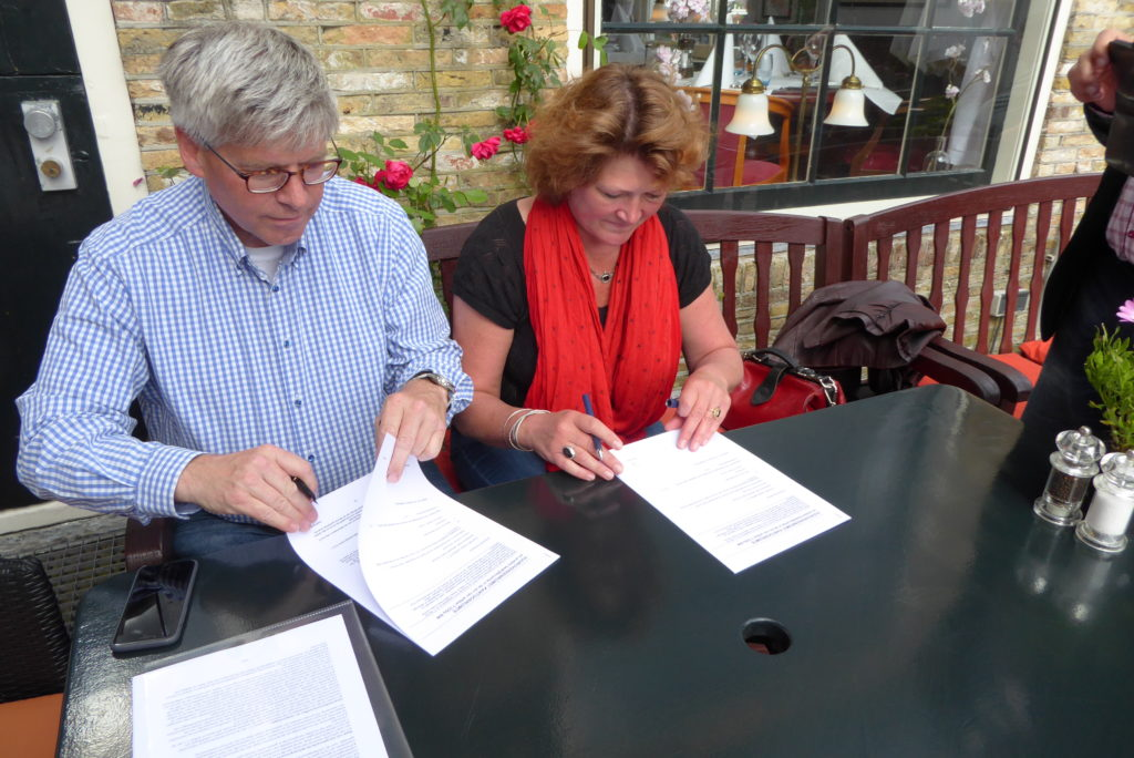 Ondertekening Huurovereenkomst de Burghwall